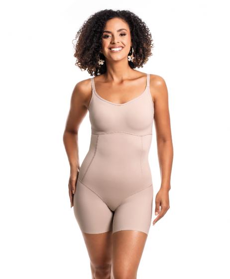Body Modelador Com Bojo e Pernas